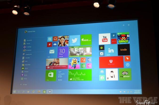 Windows 10 微软的下一版桌面系统 [ 附 demo 影片]