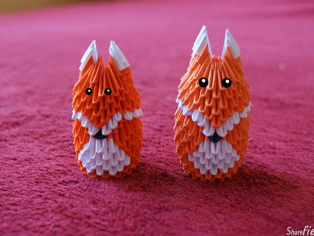 这些精致的小动物都是由一张张三角形组合成的立体折纸(origami),好神奇的艺术