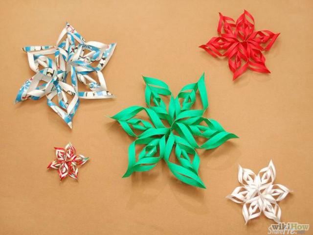 教你如何制作极简单又美美的3D纸雪花,,风吹旋转时的效果还不错哦