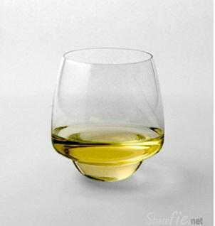 这是一个经过特别设计的酒杯,你猜的到它的功能吗 ?