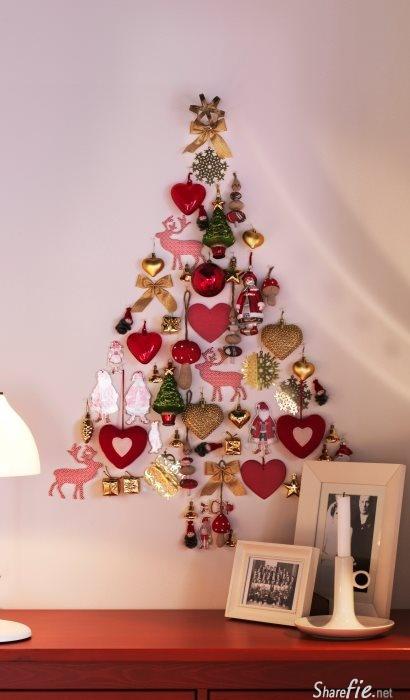 20款不一样的圣诞树,有些好简单超美,想在家里布置的朋友们快来学吧