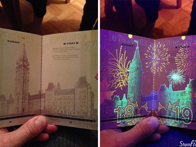 加拿大新护照加入了有趣的仿伪技术,芬兰的护照也有特别的效果