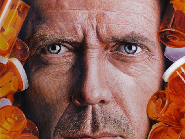 阿根廷画家用铅笔画出超真实细腻的皮肤纹理明星画作