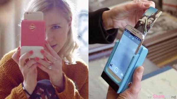 超方便的即拍即印手机壳 拍完照后立刻打印 支持 iPhone,Android