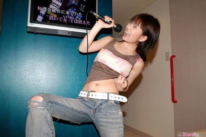 一组流出图日本女孩KTV唱歌玩很大...唱到超嗨!边唱边脱尺度超大