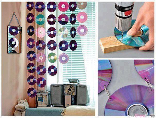 不要的CD别丢掉!这些像钻石的精致艺术品就是剪碎的CD碟子拼凑而成的