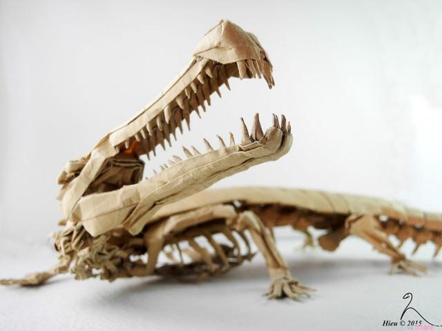 让人惊叹的折纸境界,这些栩栩如生的恐龙都是用纸折叠出来