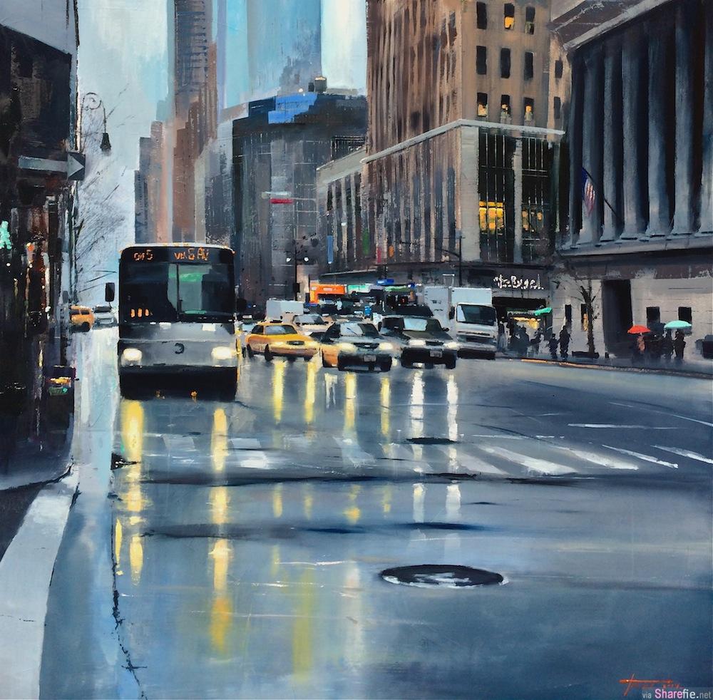 这是一张雨后城市街景照,你看到出它有什么不同吗?