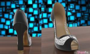 電子變色高跟鞋,只要用app就可以改变鞋子的颜色与图案。