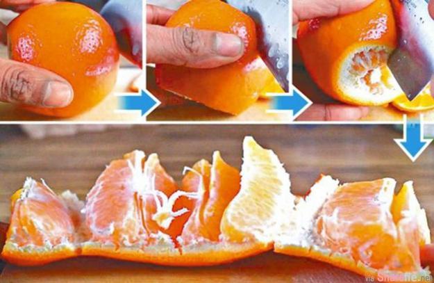 教你只用3刀切橙,还可以吃到一块块的橙肉,而且汁不乱喷