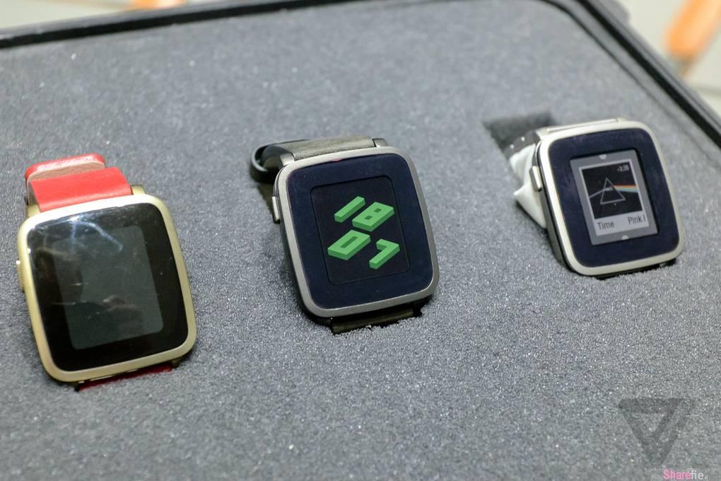 Pebble智能手表推出最新升级版 Pebble time Steel,除了机身,现在连表带也可以带有智能功能