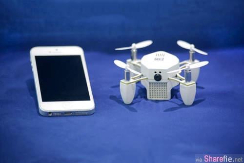 这个自拍神器是由手機遙控直升機 讓你拍出超高度的自拍照