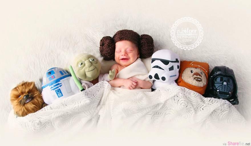 42张可爱小baby写真专辑,把宝宝们变成了小小的经典漫画人物