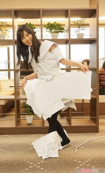 正妹試穿「透明洋裝」網友看完个个都晕了