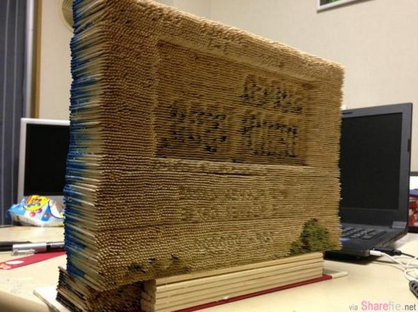 日本网友分享了这幅3D立体超级马里奥兄弟图的制作过程,用了14000枝牙签完成。