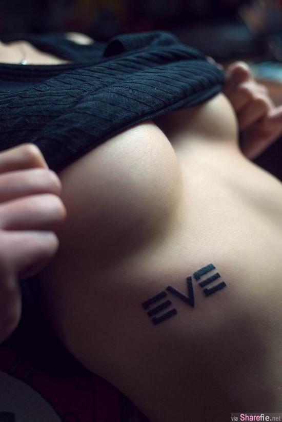 为了第九艺术 魔鬼身材美女把游戏纹到身上