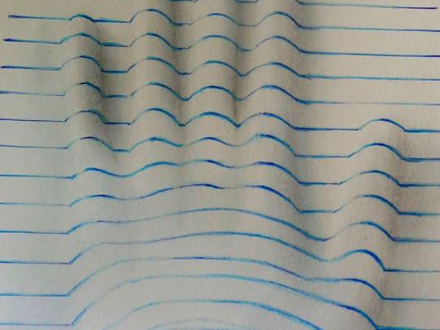 教你如何画出这3D立体感的线条图