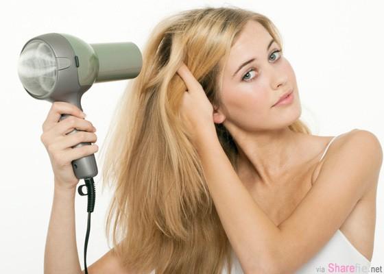 教你如何「5分鐘速乾」 快速吹干头发絕招,長髮女生必看!