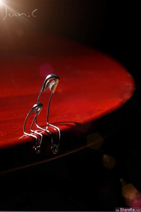 《哀傷的別針》普通的別針,沒想到也可以拿來做為創意攝影
