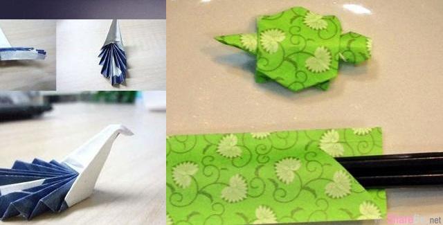 筷子套也能拿来玩折纸,以後等菜來有事情可以做了