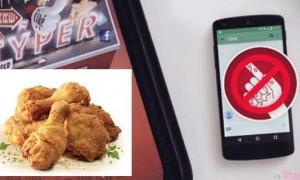 德國《KFC肯德基》推出贴心服务,让你一边手油油吃炸鸡,一边使用手机