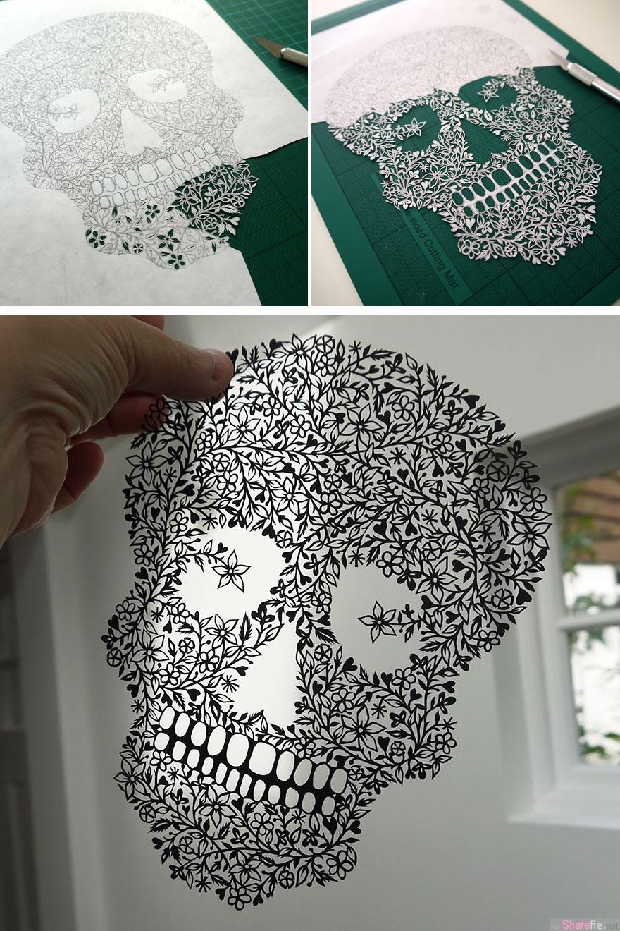 超美的纸雕艺术品,手工好精细