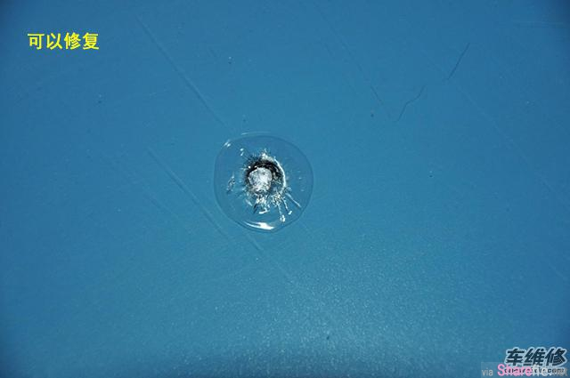 汽车挡风玻璃被石子击碎,只要这个办法,伤痕竟然神奇癒合了!