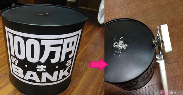 日本網友買了「存滿就有100萬」的存錢筒,沒想到存了4年後打開的超猛金額卻讓人超傻眼!