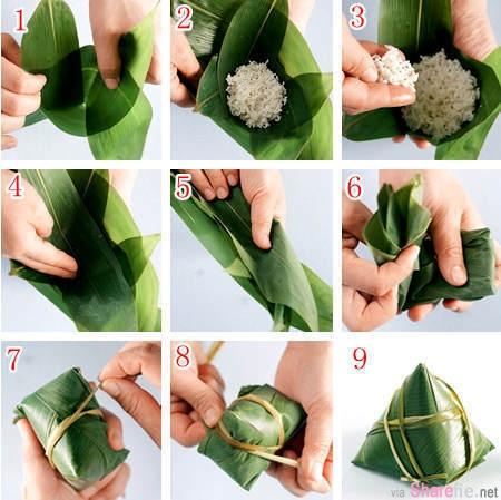 1分钟学会包粽子!去超市买着吃的简直弱爆了!见识各形状的粽子包法