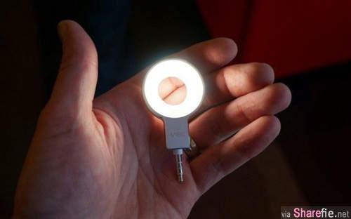 自拍神器再添一則《甜甜圈自拍神燈》手機自拍越來越強大啦