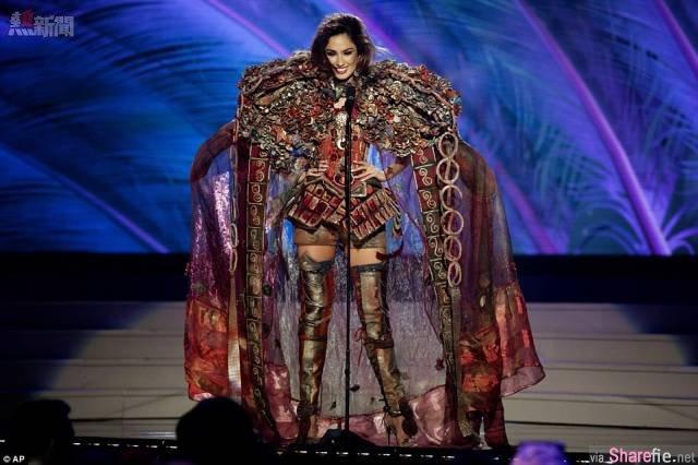 环球小姐选美,佳丽要穿一套带有国家特色的服饰…结果「韩国小姐」竟然穿这个...直接傻眼!!