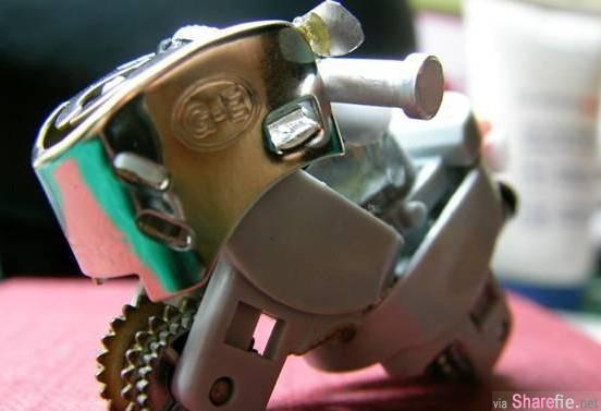 教你DIY用打火机改装迷你摩托车
