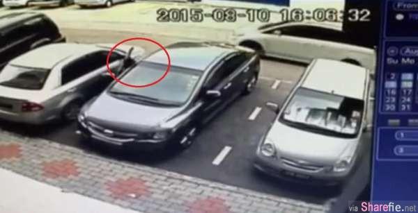 新加坡经理来新山玩,汽车停Tebrau City 10秒就被偷走 (有影片)