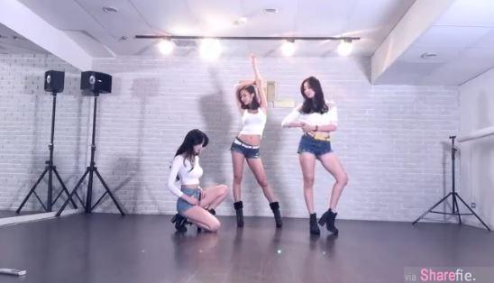 三位辣妹热舞电臀摇晃太剧烈  吸引百万网友观看