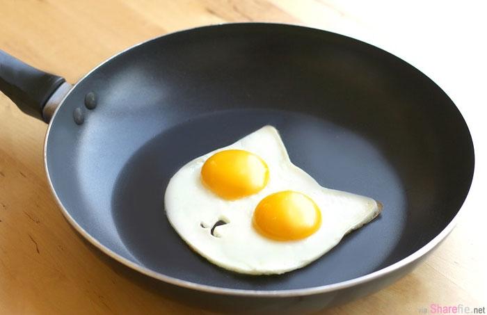 这是一块猫脸模具,能让你制作一份超可爱的早餐