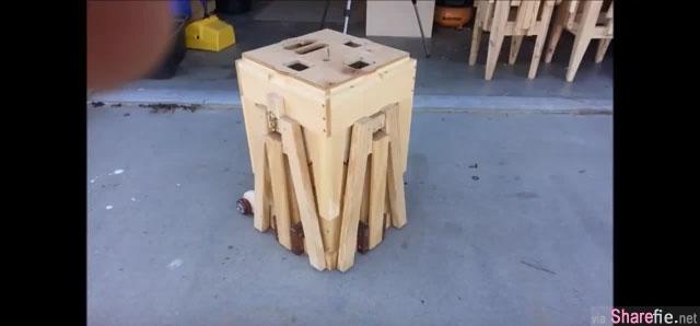 超棒的变形桌椅 郊外野餐就全靠它了 网友:新年麻将就用这个