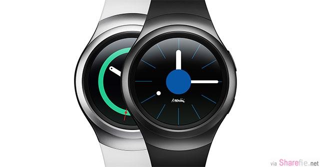 三星最新智能手錶 Gear S2  特点:「圆形錶身」「旋转圆框操控」待机时间延长至3天