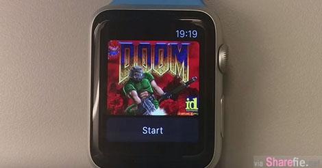 手腕上玩经典游戏!Doom 完美移植至 Apple Watch!