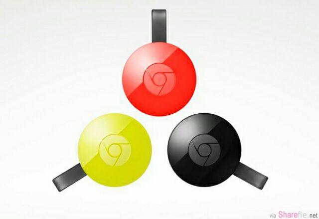 Google 推出新一代 chromecast 2.0 和 全新 chromecast audio 把家里的喇叭也能无线播放