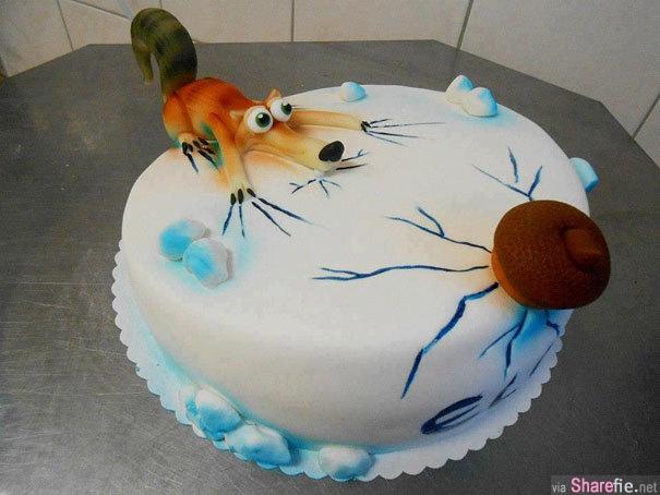 29个让你不知道该怎么切下去的超惊奇造型蛋糕