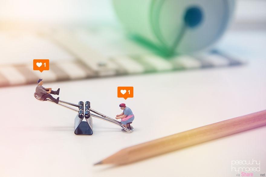 """17长由泰国设计师用""""小人""""拍出的一系列有趣构图"""