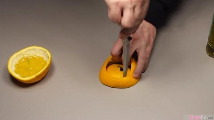 教你DIY橘子桌灯,以后停电根本不会怕,甚至还闻得到橘香!
