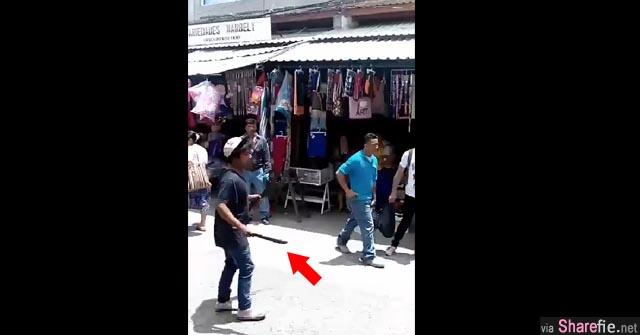 这名男子在大街上手持长刀!接下来发生的事让所有路人大吃一惊