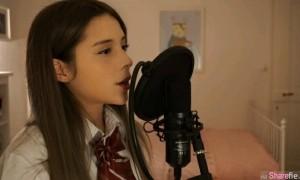 外国混血正妹唱《小幸运》 网民:声音比原唱甜
