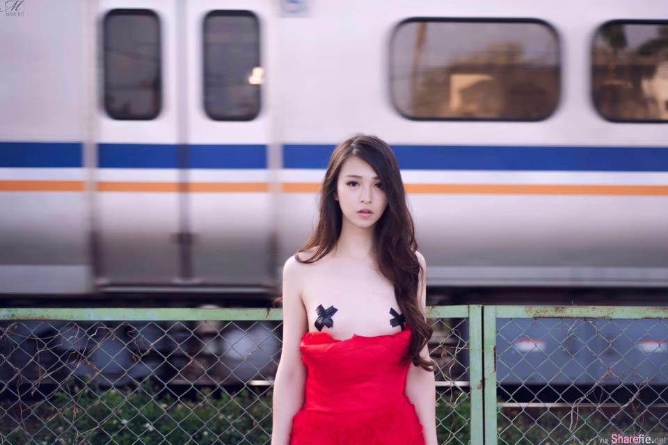 她找来一位白皙模特儿拍「半裸」婚纱 原来这名模特儿竟然是.....