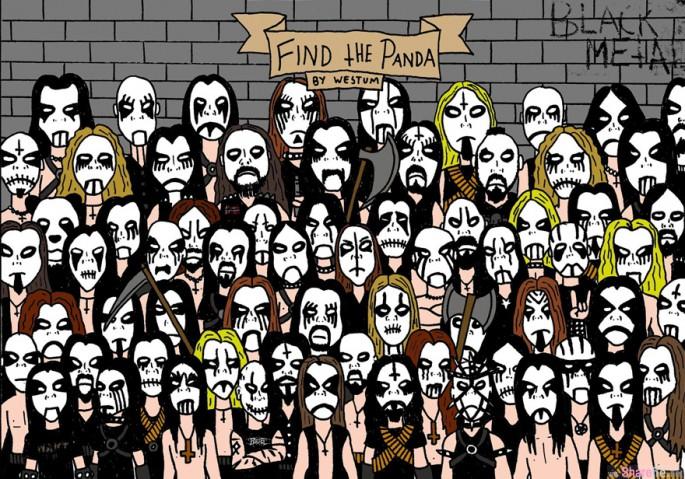 又来找熊猫 ! 这黑金属摇滚乐队里隐藏了一只熊猫