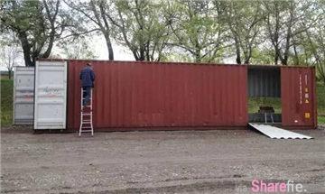 他买了6个集装箱,组合成了最时尚DIY房子
