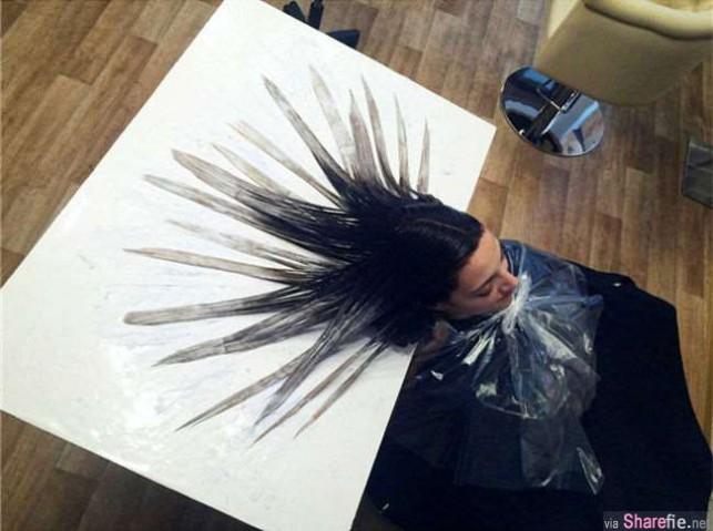 风靡全球的最新型染髮技术...看到成果后我自愿让设计师「玩弄」我的头髮!