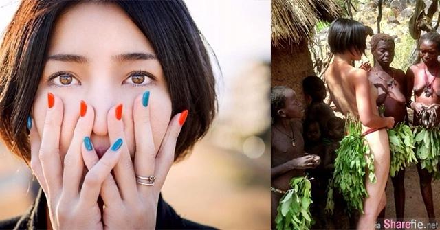 日本女摄影师 Yoshida Nagi 拍摄非洲裸体部族,一同裸体以示敬意