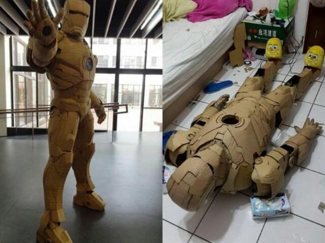 这位21岁大学生打造出1:1大小的钢铁人模型,当你知道他用什么材质做的时候,一定会觉得难以置信!